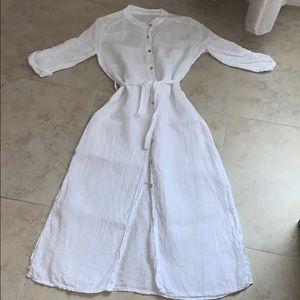 Linen beach cover dress
